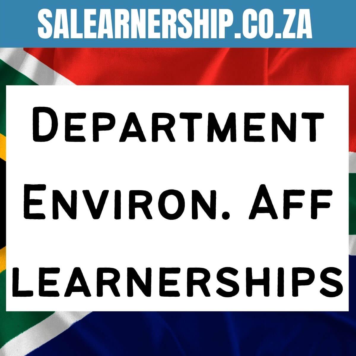 Department Environmental Affairs learnerships