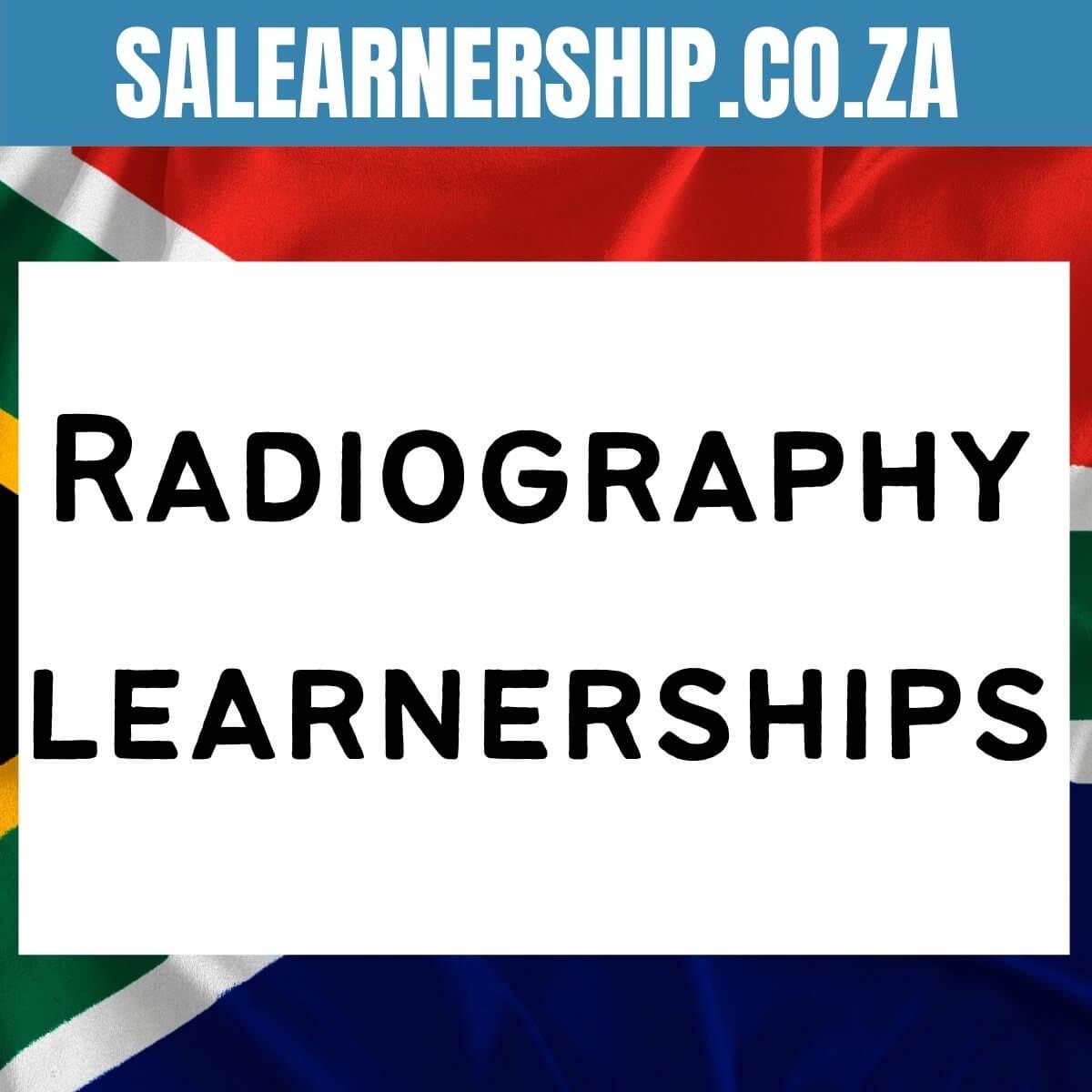 Radiography learnerships