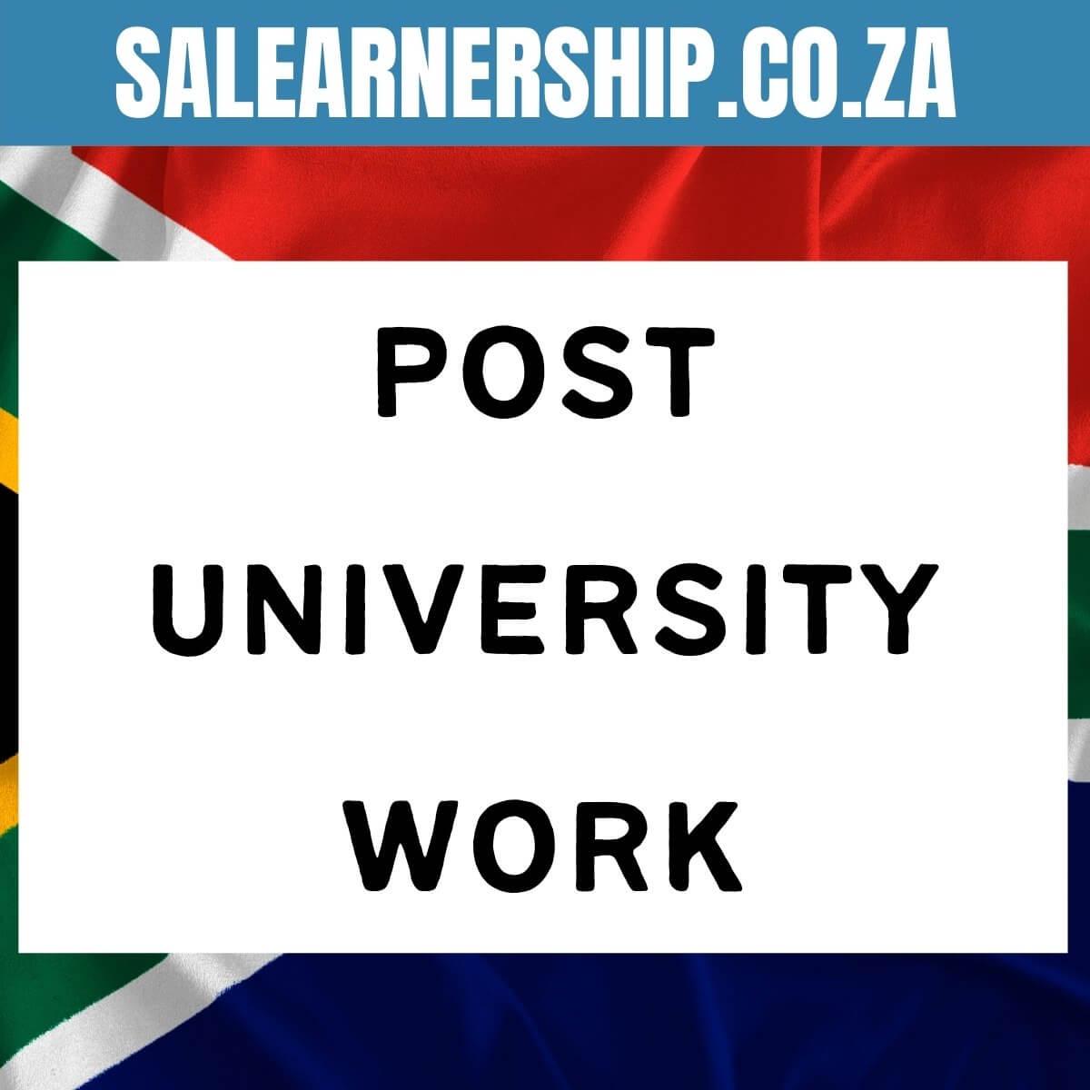 post university work
